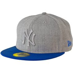 NE 59fifty Fitted Cap Poptonal NY Yankees heathergrey/azure ★★★★★