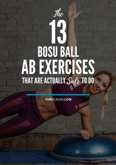 You'll usually find a BOSU ball in most gyms though I don't usually use it because uneven surface training can be dangerous. But these 13 BOSU ball ab exercises are actually safe to do and will improve your balance and stability while also tightening a Bosu Workout, Abs Workout Routines, Workout Videos, Lower Ab Workouts, Fun Workouts, At Home Workouts, Bike Workouts, Abdominal Exercises, Ab Exercises