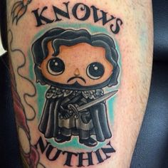 Game of thrones Jon Snow  tattoo. Artist @vintageinker #follow @vintageinker #jonsnow #jonsnowtattoo #gameofthrones #gameofthronestattoo #tattsandtees
