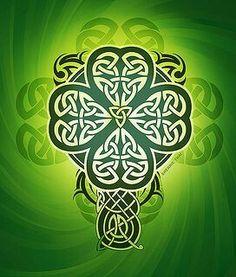 four leaf clover. Celtic Decor, Viking Decor, Pagan Decor, Celtic Pride, Irish Celtic, Irish Pride, Shamrock Tattoos, Clover Tattoos, Irish Tattoos