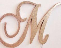 Elegant Font Pearls and Rhinestones Monogram by LeandraNDesigns