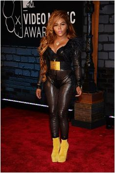 Lil' Kim and her Leather Catsuit