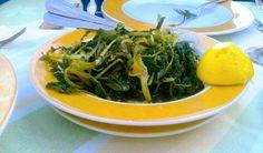 GREEK  FOOD XORTA LEMON