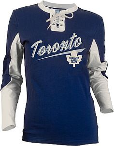 Old Time Hockey Toronto Maple Leafs Women's Adina Laceup Jersey T-Shirt - Shop.Canada.NHL.com Hot Hockey Players, Shirt Shop, T Shirt, Nhl Jerseys, Hockey Stuff, Toronto Maple Leafs, Mlb, What To Wear, Autumn Fashion