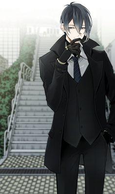 hot anime guy in suit Chica Anime Manga, Manga Boy, Anime Art, Hot Anime Boy, Cute Anime Guys, Anime Boys, Touken Ranbu Mikazuki, Clannad, Bishounen