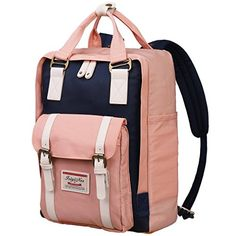 New MXKJ-STORE Casual Backpack Durable School Bag Rucksack Waterproof Nylon  Daypack Shopping Outdoor Travel Hiking Women Lady Girls (Pink) online 48068f1a6f946