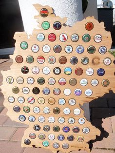 Perfect Present For Curtis Maybe For His Birthday In June Hmmm Just - Germany beer cap map