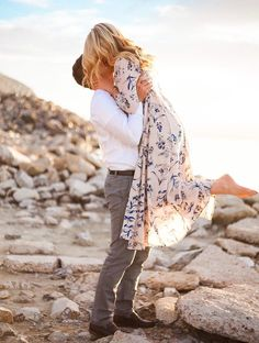 Floral Maxi in Beach Engagements