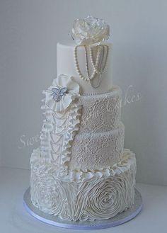 Wedding cake I made for National Capital Area Cake show