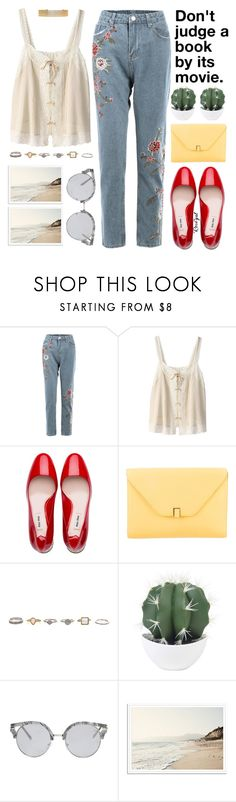 """Rosegal 19"" by chantellehofland ❤ liked on Polyvore featuring Bilitis dix-sept ans, Miu Miu, Valextra and Forever 21"