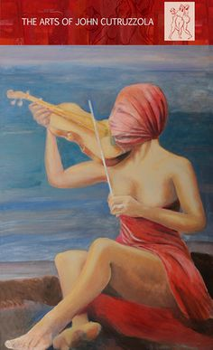 """The Violin Lady, 38' x56"""", Oil on Canvas"""