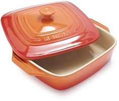 Le Creuset Flame Covered Square Baker on shopstyle.com