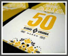 50 anniversary invitations | Lizzy B Loves ·:}: 50th anniversary invitation