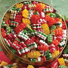 Christmas ribbon candy, it was always on the coffee table in Grandma's  living room. Description from pinterest.com. I searched for this on bing.com/images