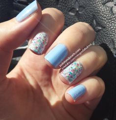 China Glaze It's A Trapeze glitter is not only beautiful, but you only need two coats!