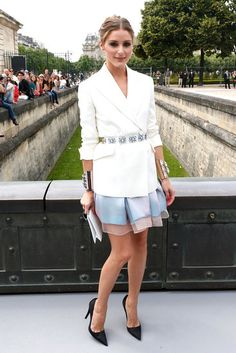 Olivia Palermo...Paris Haute Couture show on Monday.
