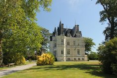 Located south of Loire, 22 mi from the city of Angers, on the edge of a village, this 19th Cy chateau is easily accessible par motorway. It has been carefully restored.