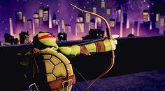 TMNT Raphael, I never knew he was left handed...