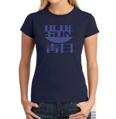 5054244d7 The 100% cotton Firefly Blue Sun Women's T-Shirt features the ominous Blue  Sun