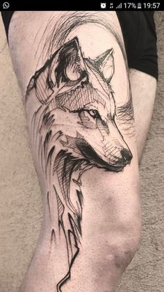 50 of the most beautiful wolf tattoo designs the internet has ever seen - sketch . - 50 of the most beautiful wolf tattoo designs the internet has ever seen – sketchy wolf tattoo © - Wolf Tattoo Design, Tattoo Designs, Sketch Tattoo Design, Trendy Tattoos, Cute Tattoos, Body Art Tattoos, Small Tattoos, Wolf Tattoo Sleeve, Arrow Tattoo