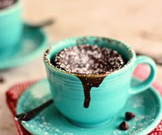 Chocolate Mug Cake for Two Gooey Chocolate Cake Cups for Two {in 2 minutes!} from - a farmgirl's dabblesGooey Chocolate Cake Cups for Two {in 2 minutes!} from - a farmgirl's dabbles Mug Recipes, Sweet Recipes, Cake Recipes, Dessert Recipes, Quick Dessert, Gooey Chocolate Mug Cake, Chocolate Mug Cakes, Gooey Cake, Molten Chocolate