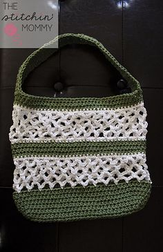 Go Green Mesh Tote by The Stitchin' Mommy