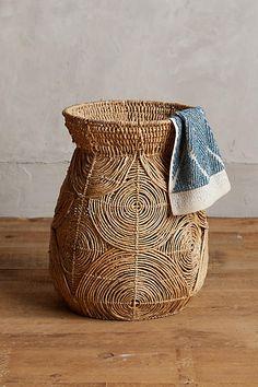 Abaca Spiral Basket
