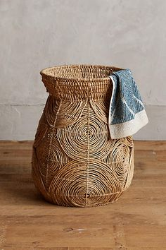 Abaca Spiral Basket - anthropologie.com