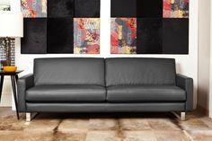 Sofá Taylor en cuero legítimo. Diseño recto y simple, super confortable.  #SalvatoreMinuano #Viasono