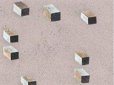 riemann cubes - Handmade Wallpaper, serigraphe - Fromental