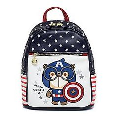 Captain America backpack - ΤΣΑΝΤΑ ΠΛΑΤΗΣ
