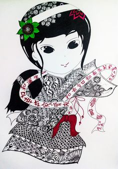 Zentangle : Little Girlie | Destiny's Child