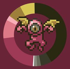 Pixel Characters, 8 Bit, Pixel Art, Monsters, Dots, Movie Posters, Stitches, Film Poster, The Dot