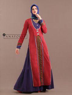 38 Abaya Dress Merah Ungu