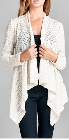 Ivory Light Knit Cardigan – Simple Arrow Boutique