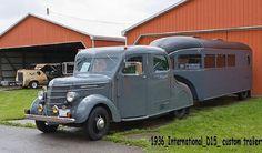 1936 International with Custom Trailer. Nifty!!