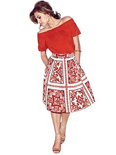 Shop Eva Mendes Collection - Maddie Skirt - Print . Find your perfect size online at the best price at New York & Company.