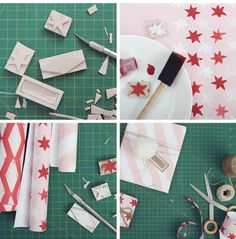 hand painted wrapping paper DIY from Making Nice in the Midwest