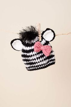Baby Zebra Hat/Baby Photo Prop by thewhimsicalelephant on Etsy, $30.00