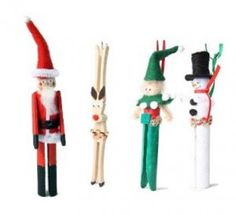 christmas crafts for kids | Contemporary Christmas clothespin Craft Set | Art Craft for Kids ...