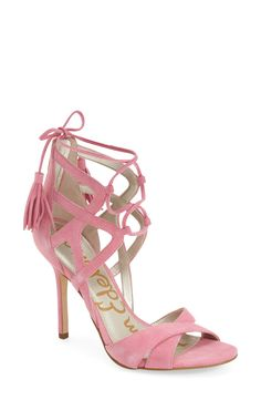 Sam Edelman 'Azela' Tasseled Lace-Up Sandal (Women) - Wow Georgeous.  How many lace up heels is too many!
