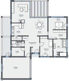 plan de maison 4 pans