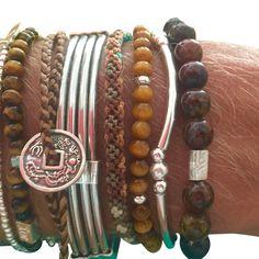 Tiger eye , red onyx and silver bracelets Silver Bracelets, Gold Jewelry, Jewellery, Men's Collection, Anklets, Bali, Joy, Silver Cuff Bracelets, Jewels