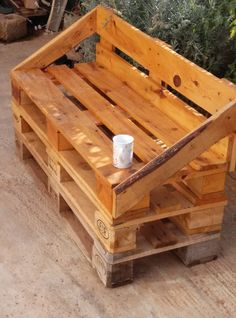 The idea was to made a sofa for my office patio, I made it with repurposed wooden pallets. [symple_box color=gray fade_in=false float=center text_align=left width=100%] Submitted by: SPYROS LAVRANOS ! [/symple_box]