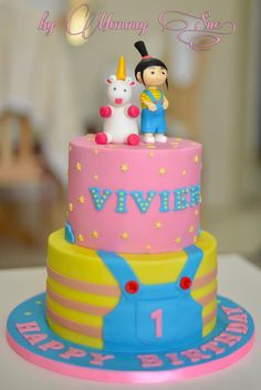 Agnes - Despicable Me Themed Cake - Cake by Mommy Sue