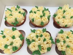 Luxury Butter Cream Flower Cupcakes  - Minimum order 12 Cupcakes 12 Cupcakes, Flower Cupcakes, Cream Flowers, Dublin, Ireland, Bakery, Butter, Luxury