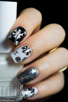 Black & White Snowflake