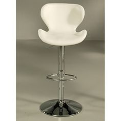 Cagliari Ivory Hydraulic Bar Stool - Free Shipping Today - Overstock.com - 14257249 - Mobile