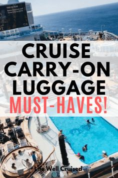 Cruise carry on essentials for every cruiser! If you're heading on a cruise, you'll want to be prepared with a well packed carry on, backpack or day bag. This list has more than 20 of the items most recommended by cruise experts. Packing List For Cruise, Cruise Travel, Cruise Vacation, Shopping Travel, Cruise Checklist, Travel Packing, Beach Travel, Honeymoon Packing, Vacation Planner