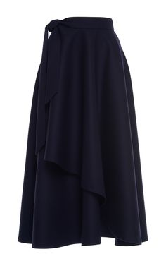 Wrap Midi Skirt by MARTIN GRANT
